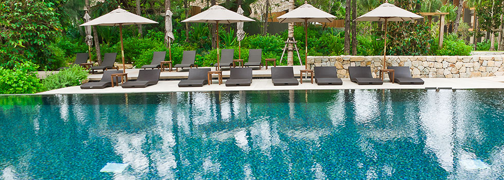 Swimming pool landscaping residential commercial for Swimming pool landscape